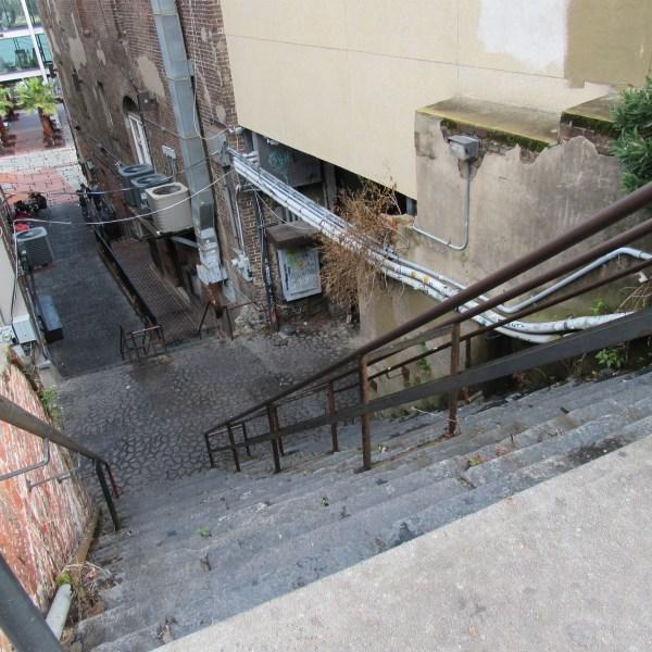 Stone stairs in Savannah