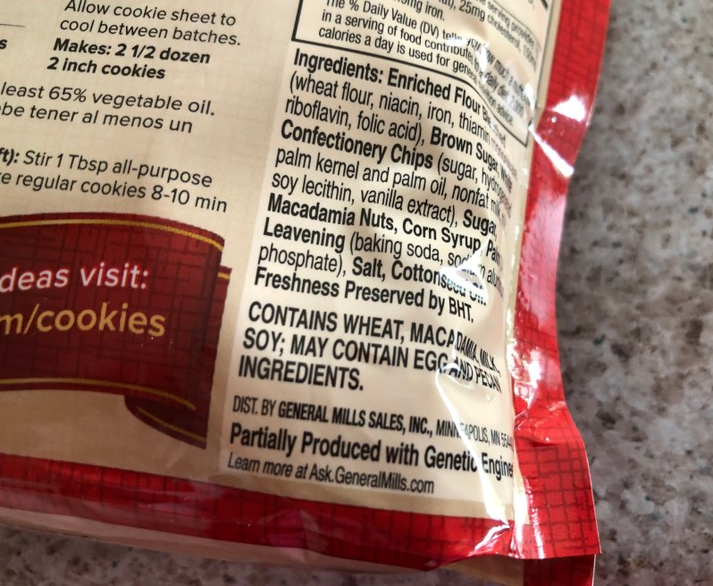 Cookie mix label