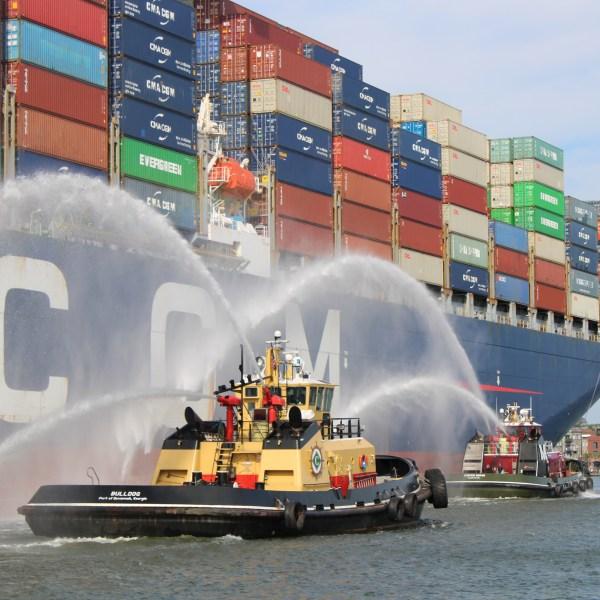 Tugboat escort