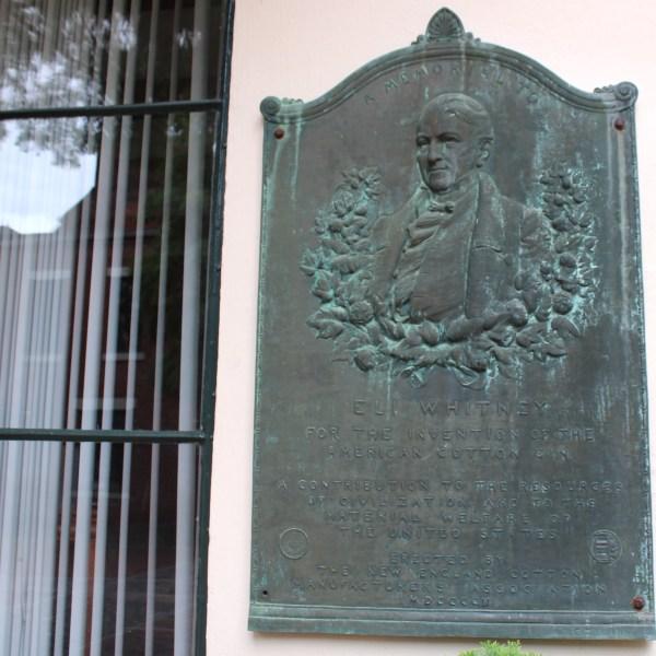 Eli Whitney plaque