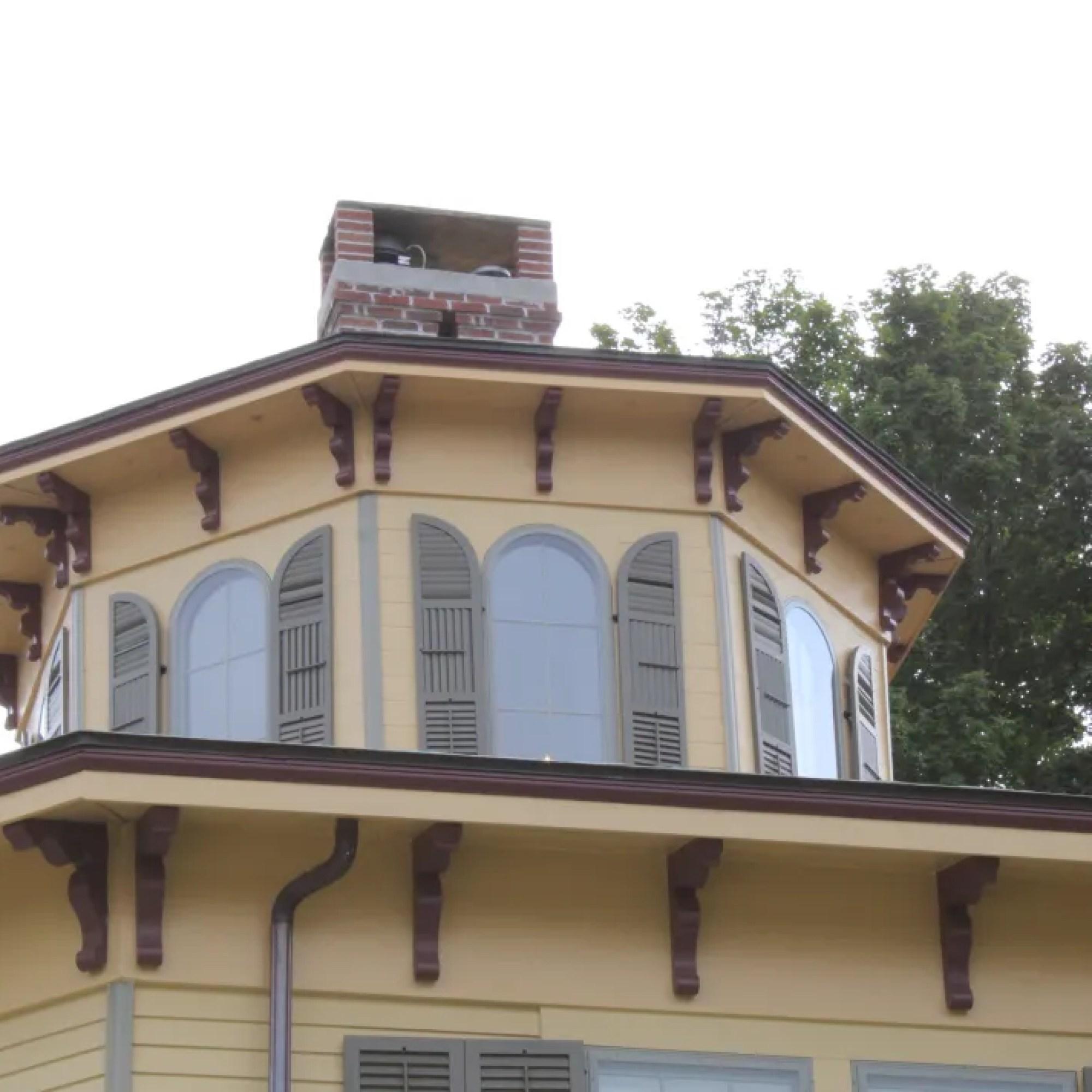 Cuploa of an octagon house