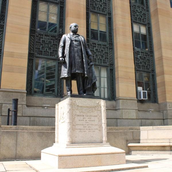 Bronze Sculpture President Grover Cleveland