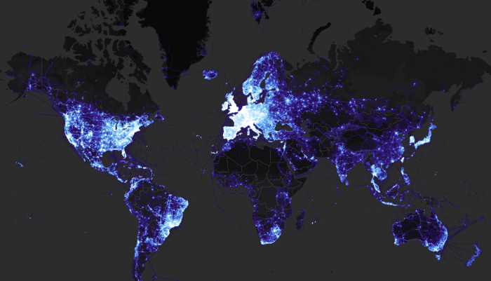 strava-world heatmap