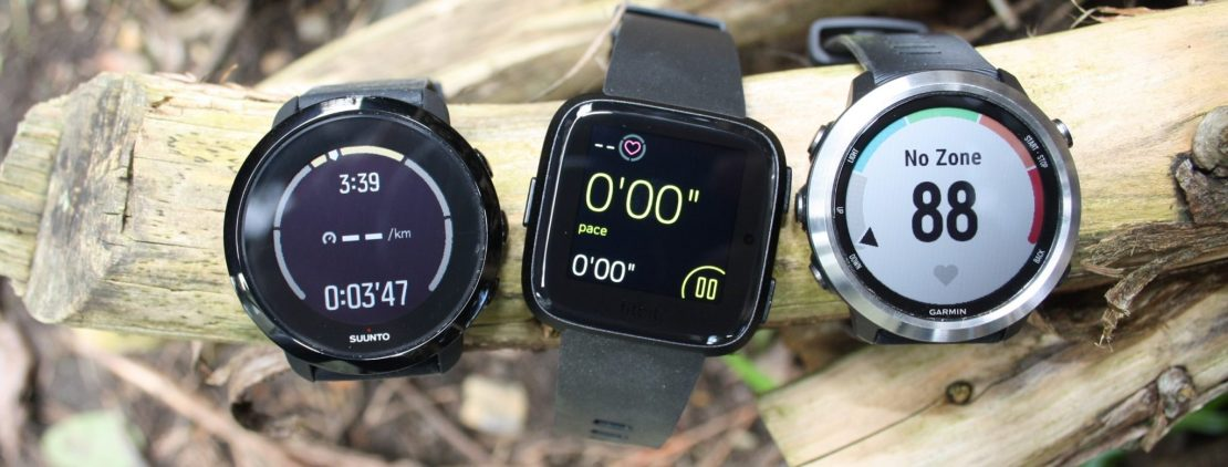 Fibit Versa, Suunto 3 Fitness, Garmin 645 Music