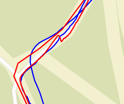 Galileo on Instinct (Red) vs ELEMNT (Blue)