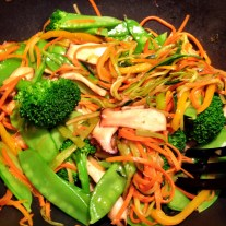 Meatless Monday Vegetable Stir Fry with Sesame Ginger Noodles