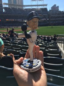 Trevor Hoffman bobblehead from the 2016 All-Star Game Futures Game.