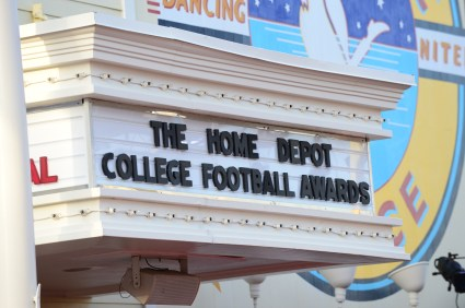 The Atlantic Dance Hall on the Boardwalk at Walt Disney housed the College Football Awards for the last time in 2014. The event moves to the College Football Hall of Fame in Atlanta in 2015.