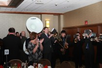 A band entertained guests at the Outland Trophy presentation banquet on Jan. 15 in Omaha.