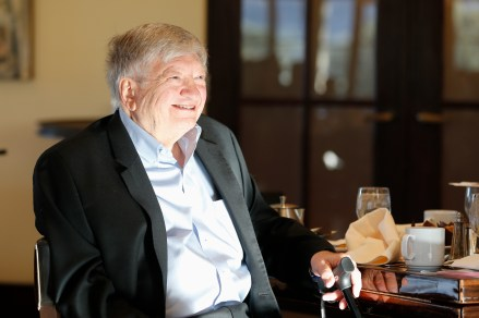 Irv Moss of the Denver Post, who was honored with a Lifetime Achievement Award by the FWAA. Photo by Melissa Macatee.