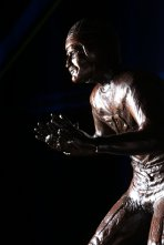 The Bronko Nagurski Trophy, which is awarded annually to the best defensive player in college football by the Football Writers Association of America and the Charlotte Touchdown Club. (Photo by Michael Strauss, Strauss Studios.)