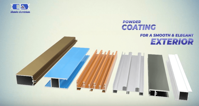 Chawla Aluminium claims to have power coating for smooth & elegant exterior.