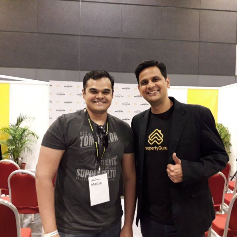 Babar Khan Javed with Hari Krishnan, CEO of PropertyGuru.com.sg