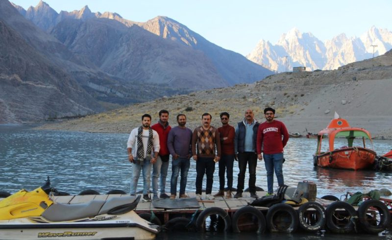 Media Professionals team at Attabad Lake.