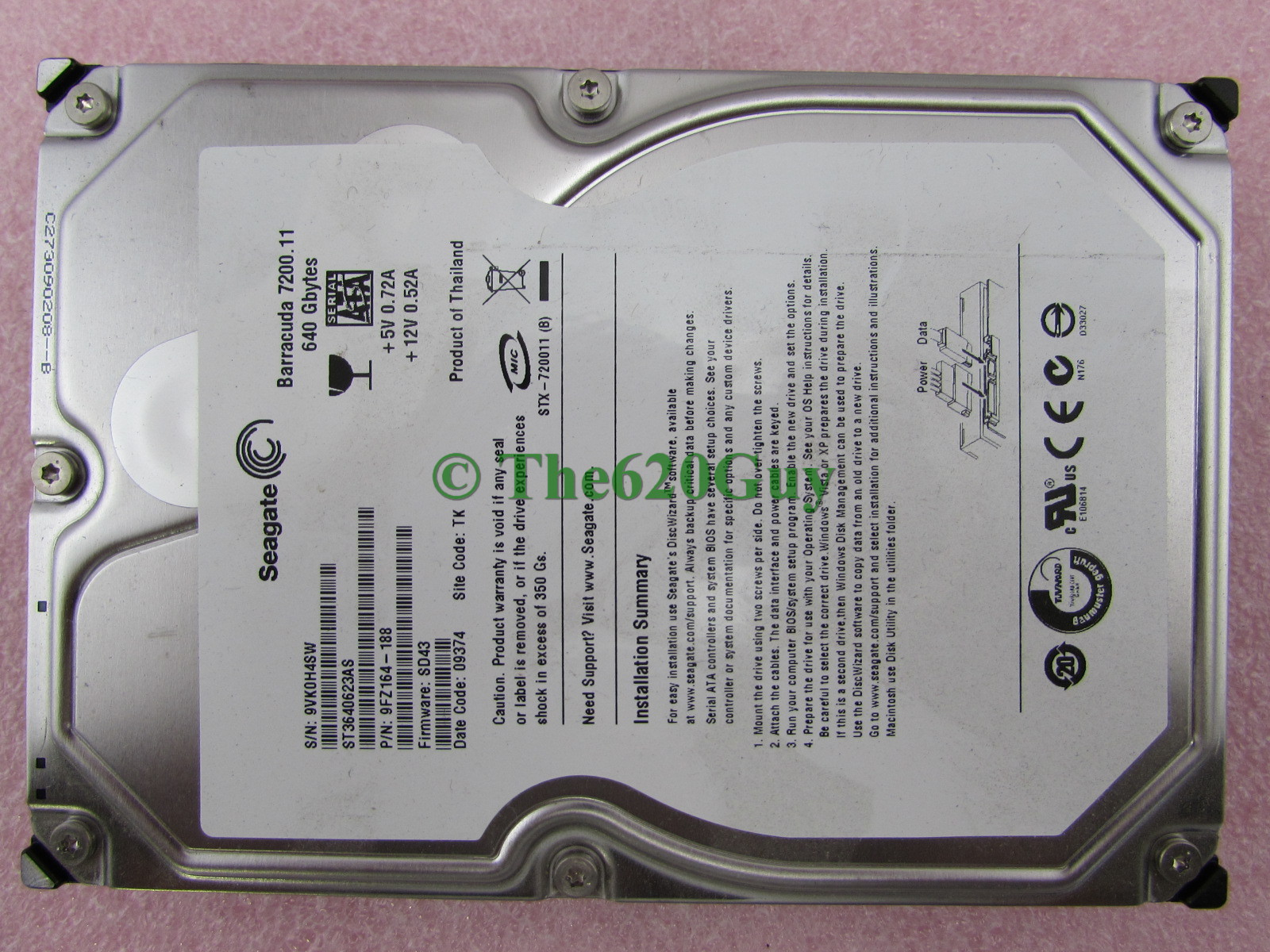 Seagate Barracuda 7200.11 ST3640623AS HDD 64 BIT Driver