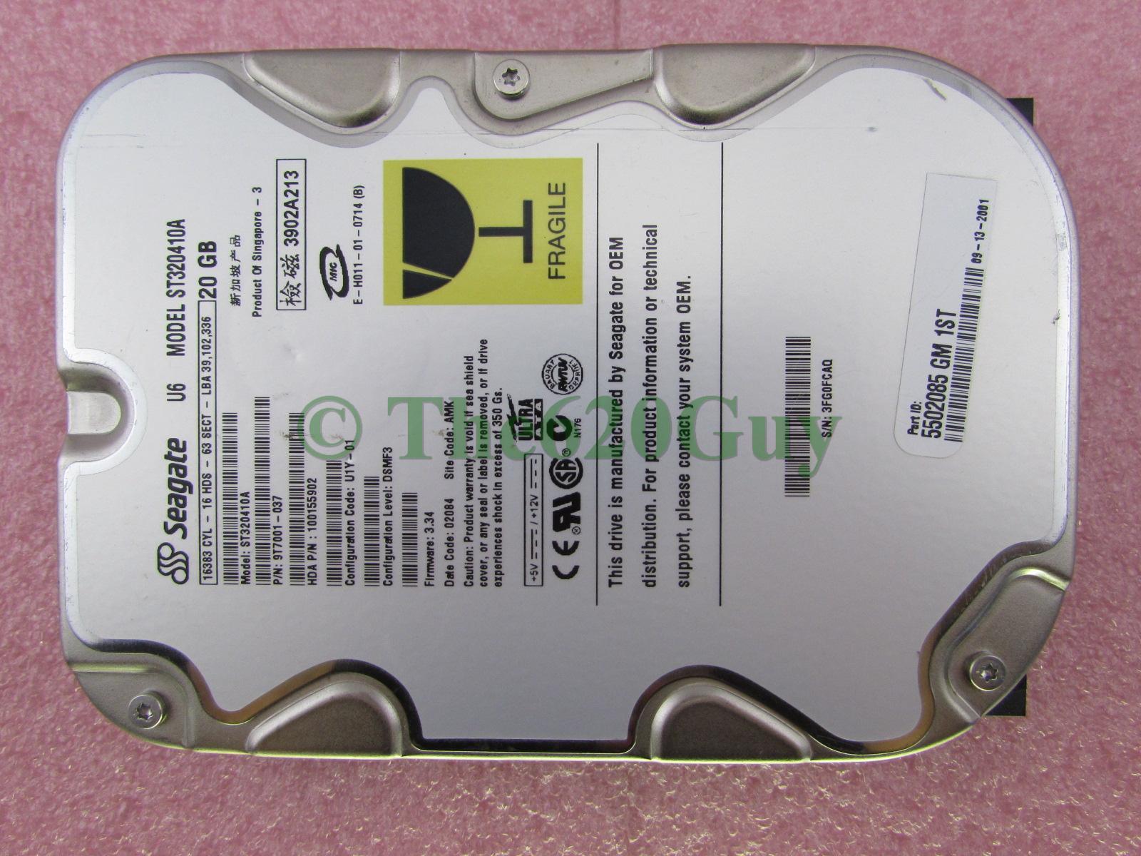 Seagate ST320410A U6 Series 20GB 5400RPM 2MB IDE Hard Drive