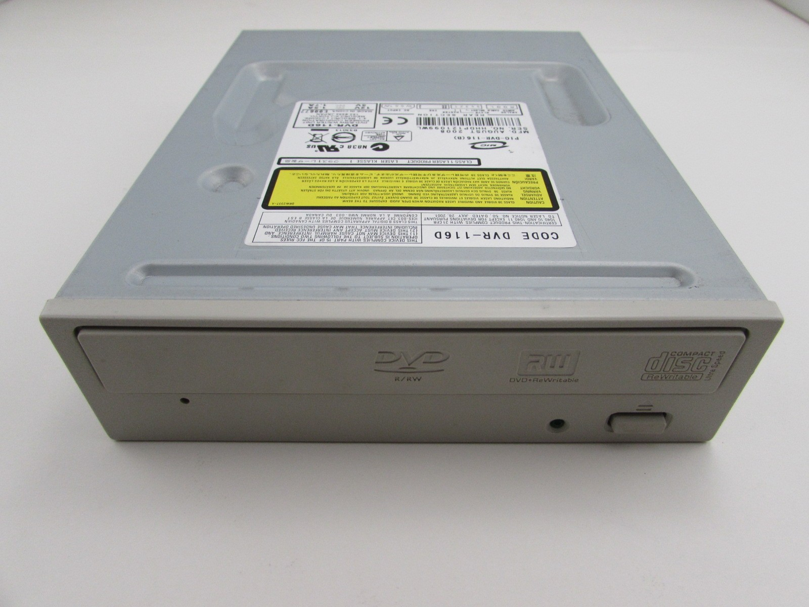 PIONEER DVR-116D DVD-RW DRIVER