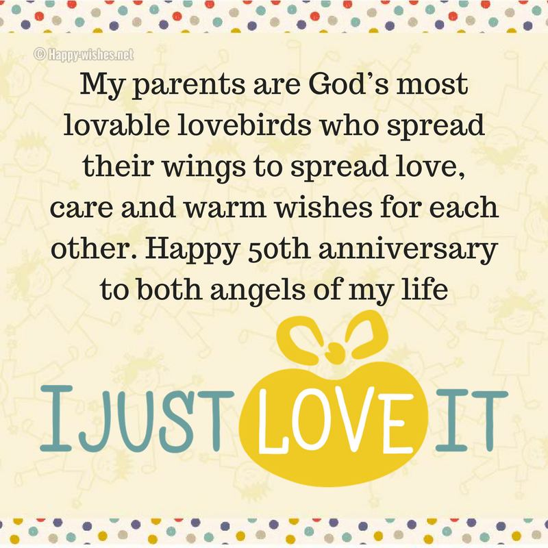 50th Wedding Anniversary Wishes Quotes Messages