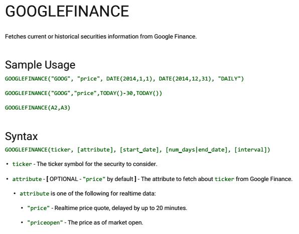 finance google finance