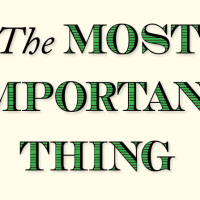 The Most Important Thing - Lessons
