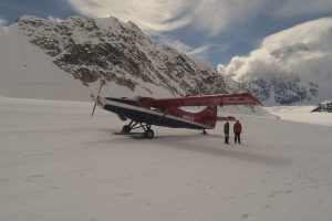 The plane that brought me to the glacier