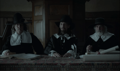 We see the panel of three judges up close for the first time. It has a striking resemblance to the painting of The Last Supper.