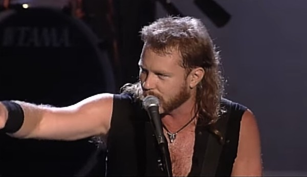 Metallica performing 'For Whom the Bell Tolls' at Woodstock 1994