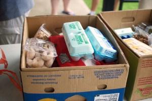 volunteering_ food box at abundant rain ministries