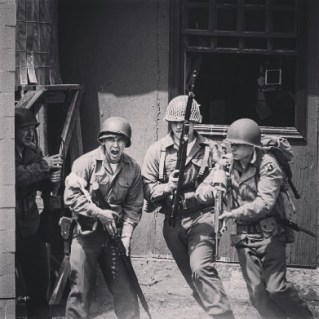Soldiers in action against a sudden Nazi attack. Credit: Melanie Krahling.