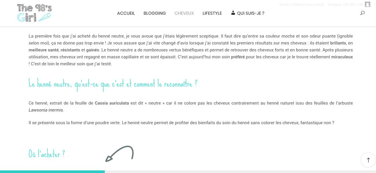barre de chargement, site web
