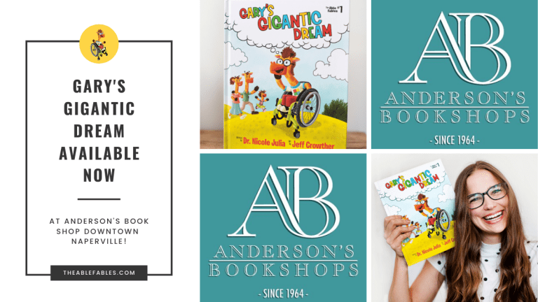 Anderson's Bookshop Naperville now carrying Gary's Gigantic Dream The Able Fables