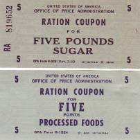 WWII Ration coupons a1572