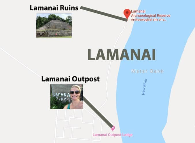 lamanai map