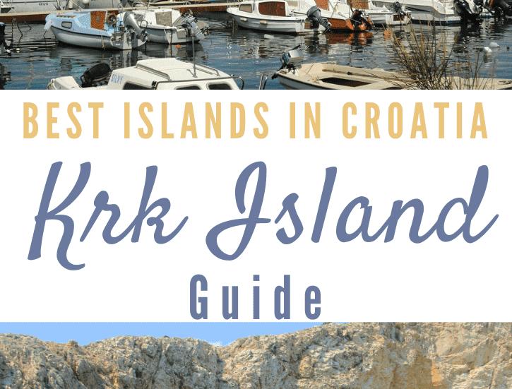 Best Islands in Croatia, Krk Island, Pinterest Pin, The Abundant Traveler