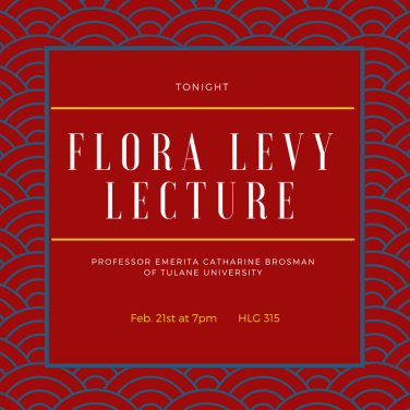 University of Louisiana Flora Levy Lecture with Catharine Brosman 1