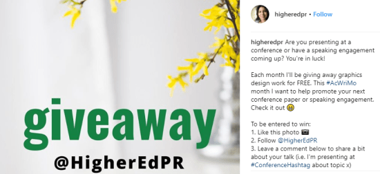 @HigherEdPR Giveaway