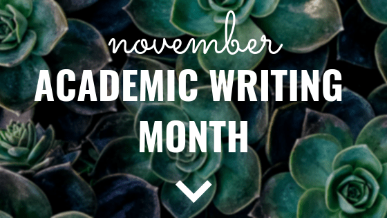 November Academic Writing Month