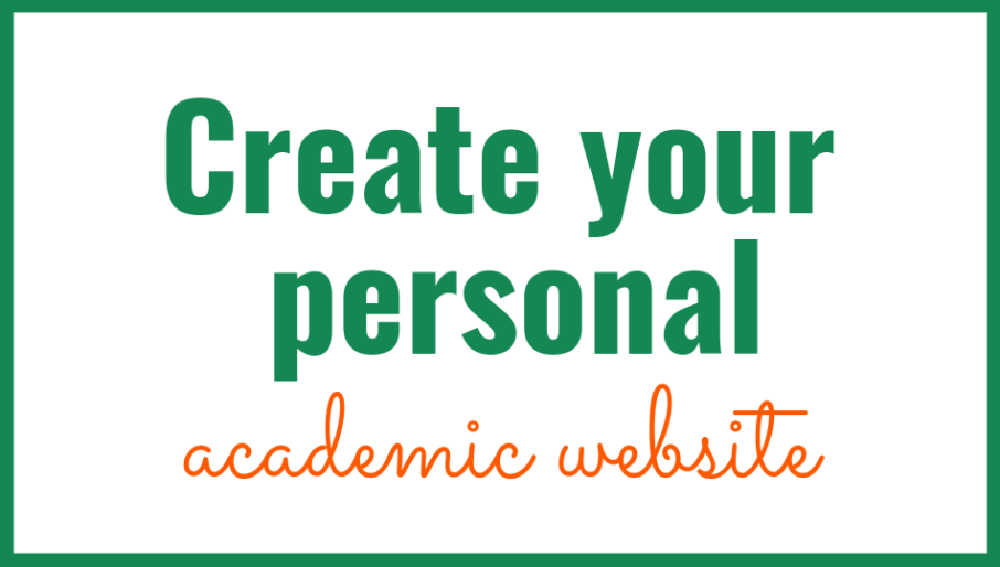 Create your personal academic website course