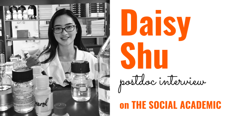 Daisy Shu (headshot), postdoc interview on The Social Academic
