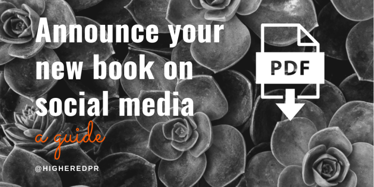 Announce your new book on social media