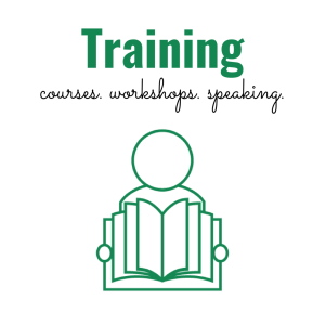Training: courses, workshops, speaking