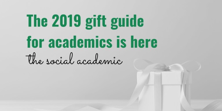 The 2019 gift guide for academics is here; image: gift box