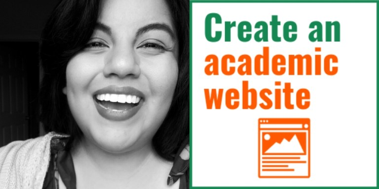 Create an academic website