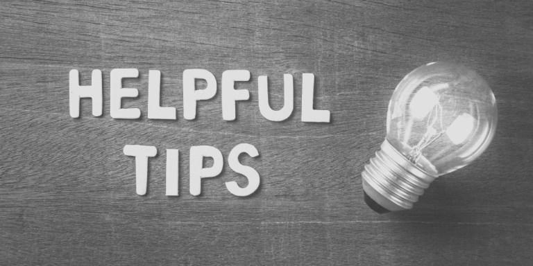 Helpful tips with lightbulb