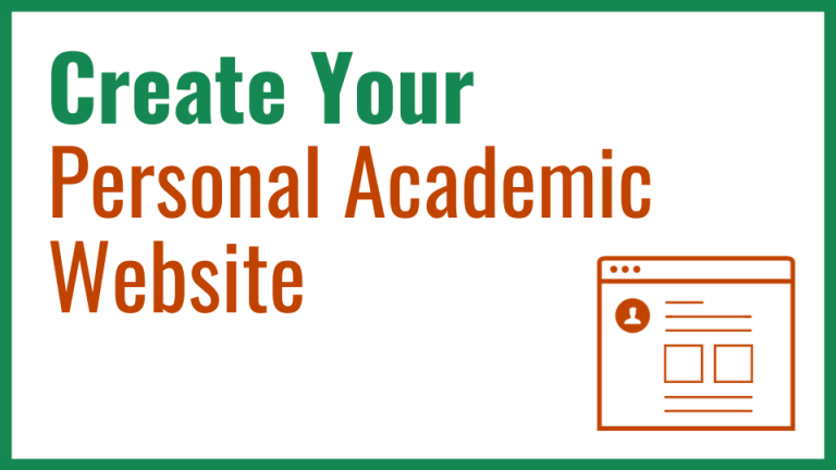 Enroll in Create Your Personal Academic Website