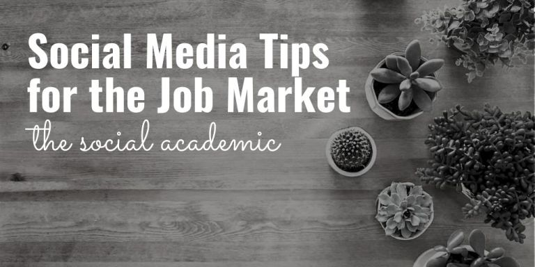 Social Media tips for the job market
