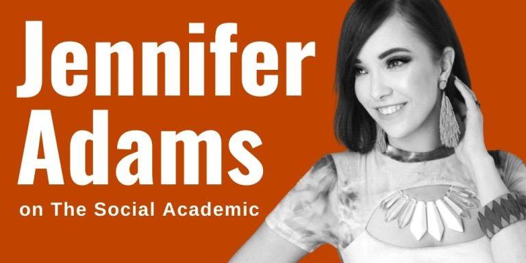 Jennifer Adams @RunwayRedLA on feature interview on The Social Academic blog