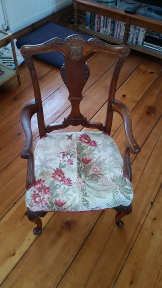 The doll's house chair in its original condition