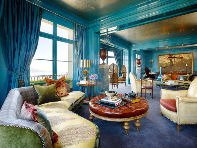 Ken Fulk:: A Glimpse Behind the Magic Curtain #livingrooms #bluerooms #kenfulk