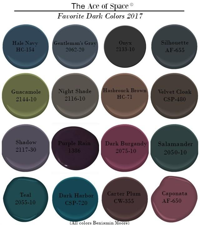 Favorite Dark Colors 2017